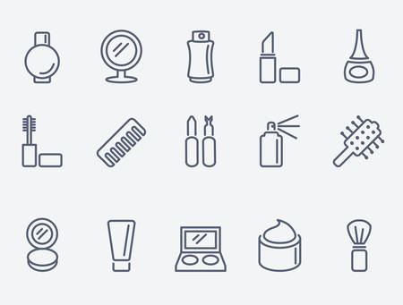 health beauty: cosmetic icons