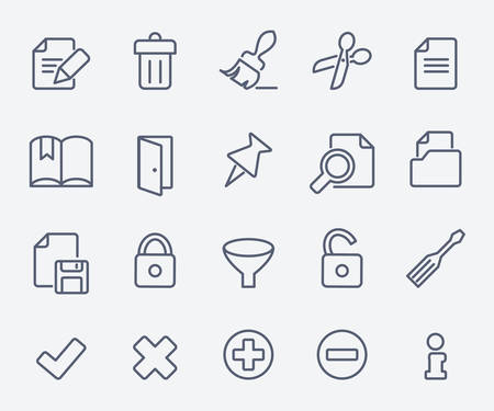 read book: Document icon set