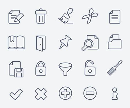 book mark: Document icon set
