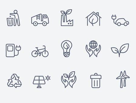 basura: Ecología icono conjunto
