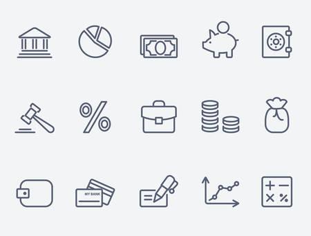 Financiën iconen