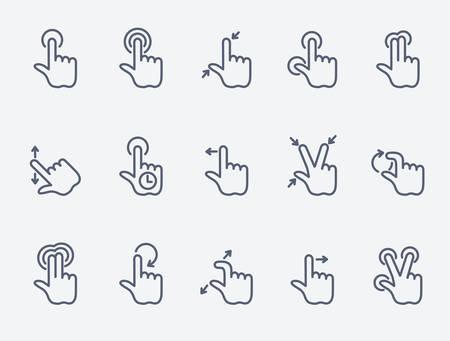 forme: Touchez gestes icônes