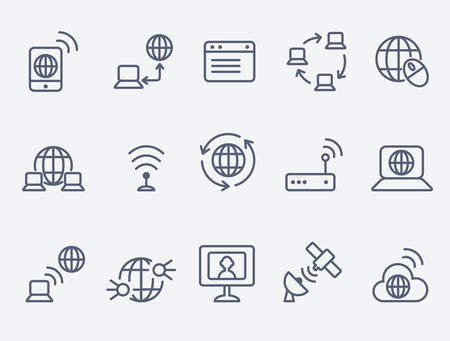 wireless communication: internet icons