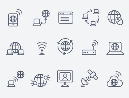 los iconos de Internet