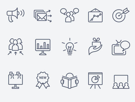 Marketing icon set Ilustracja