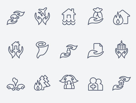 family policy: Insurance icons