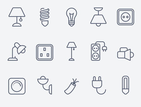sconce: Electric accessories icons