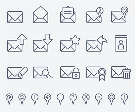sent: Mail icon set