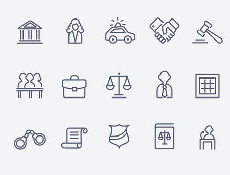 Iconos de abogados Foto de archivo - 57818888