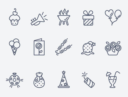 party: Party icons Illustration
