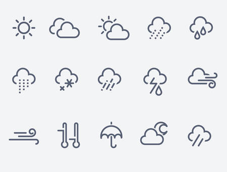 weather icons Фото со стока - 58551282