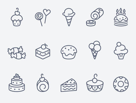 sweet pastry: Sweet pastry icons Illustration