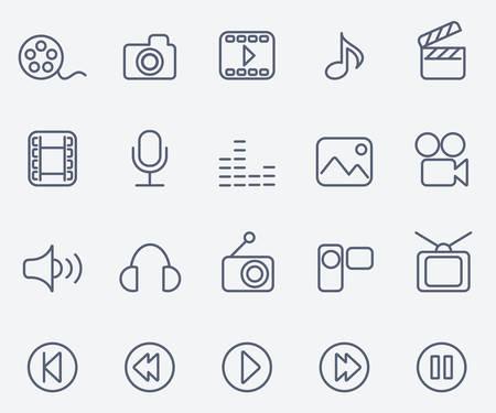 backwards: Media icons