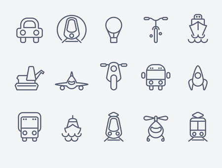 transport icons: Transport icons