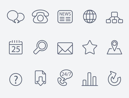 site map: Web icons