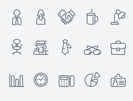 sillon: oficina de iconos  Vectores