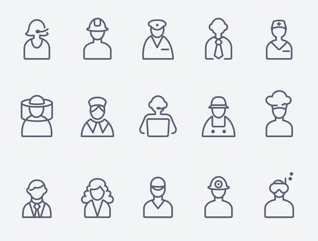 Professionals, people icons Иллюстрация