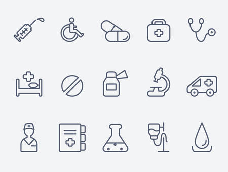medical research: Medical icons Illustration