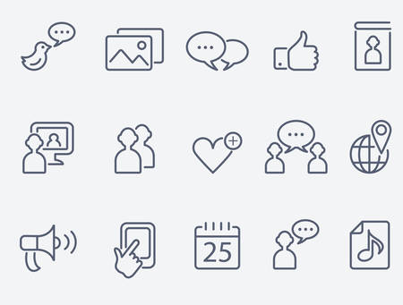 communication icons: social media icons