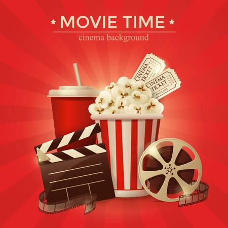 cine: Cinema concept poster . vector illustration