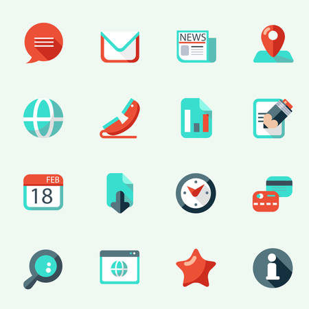 latter: Web icons in flat design Illustration