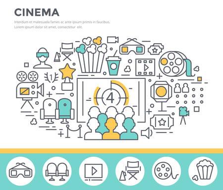 movie film: Cinema concept illustration,