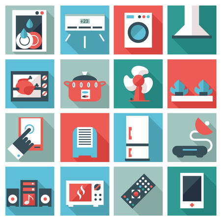 hobs: Set of household appliances icons