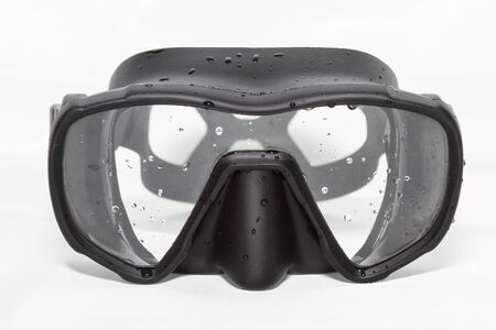free diver: diving mask