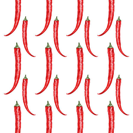 be green: Fresh watercolor green chili pepper illustration. Seamless pattern. Can be used for  cards, invitations etc.