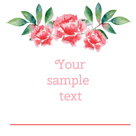 wedding bouquet: Watercolor rose flower, wreath, bouquet, illustration, Can be used for , cards, wedding invitations etc Illustration