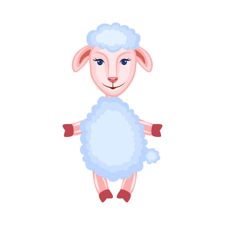 Cartoon lamb standing vector