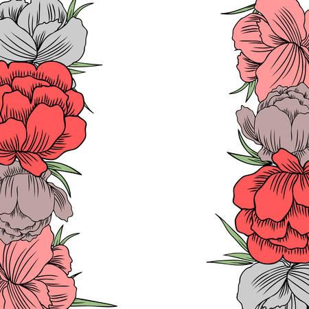 Trollius asiaticus flowers, Globeflower or Kupavna, frame bouquet vector isolated on white background, Ranunculus or Kupavka decorative border for package, medicine, wedding invitation, cosmetic, card