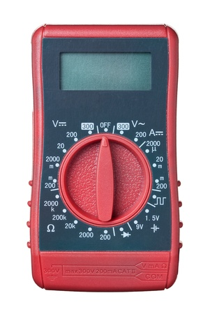 manual test equipment: Multimeter, tester isolated on the white background