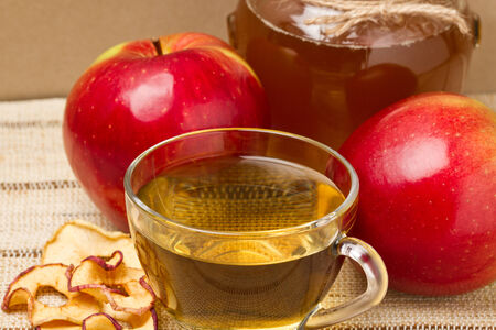 Tea of apple, apple and honey photo