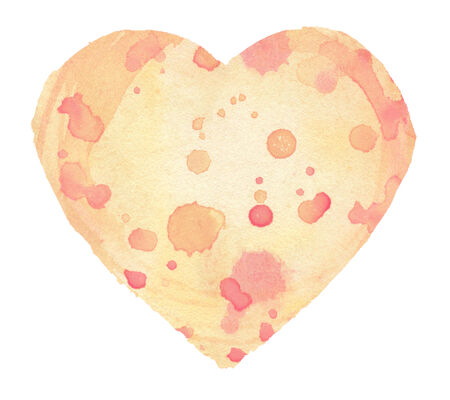 Watercolor heart, isolated photo
