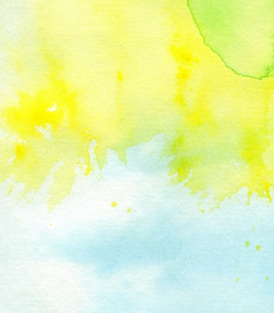 Abstract painted watercolor background on paper texture. Stock Photo