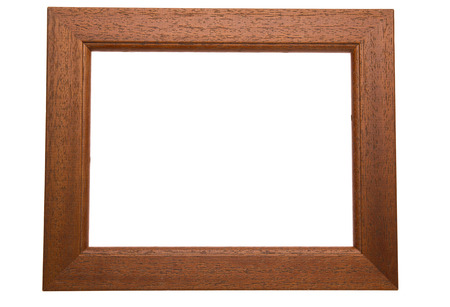Classic wooden frame isolated on white background Stock Photo - 23874460