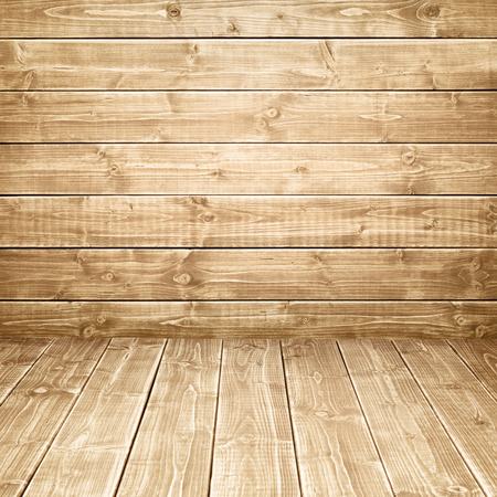 Wood background. Wooden wall and floor.