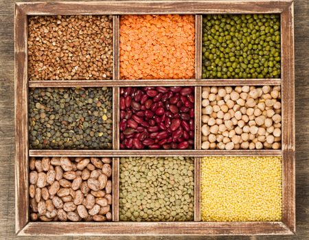 Mix from various beans,lentils and millet, buckwheat photo