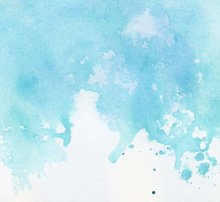 Abstract painted watercolor background on paper texture. photo