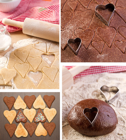 Heart shaped cookies for valentines day  photo