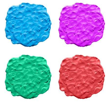 The texture of plasticine set photo