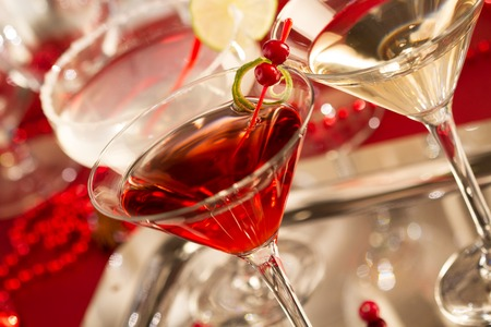 christmas drink: Cocktail drinks Stock Photo