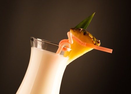 pina: Pina colada drink in cocktail glass Stock Photo