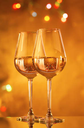 drink responsibly: Glasses of white wine