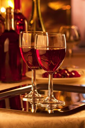 responsibly: Glasses of red wine