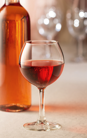 responsibly: Glass of rose wine Stock Photo