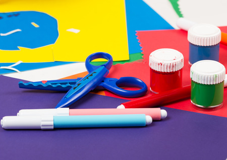 Color paper and school  accessories