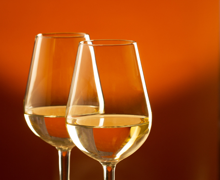 responsibly: Glasses of white wine
