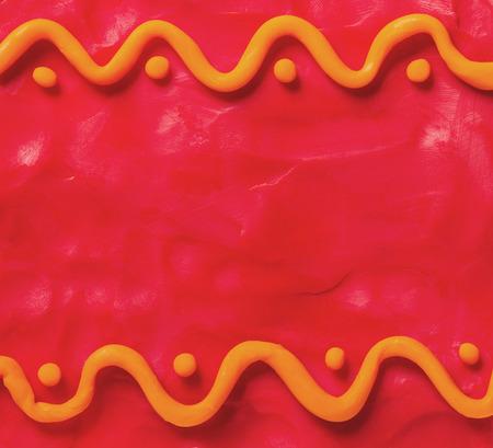 plasticine: Red plasticine background